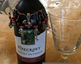USA FREE SHIPPING!!! All Hallows' Eve Wine Charm Set!