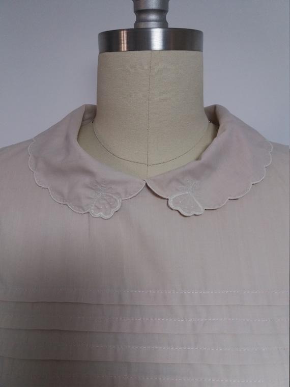 secretary man dress up tea summer pin retro swing pan 70s short length midi Vintage spring mad collar geometric peter wear VTG sleeve pocket xURqBaFq