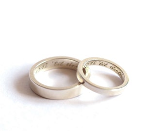Wedding ring pair Etsy