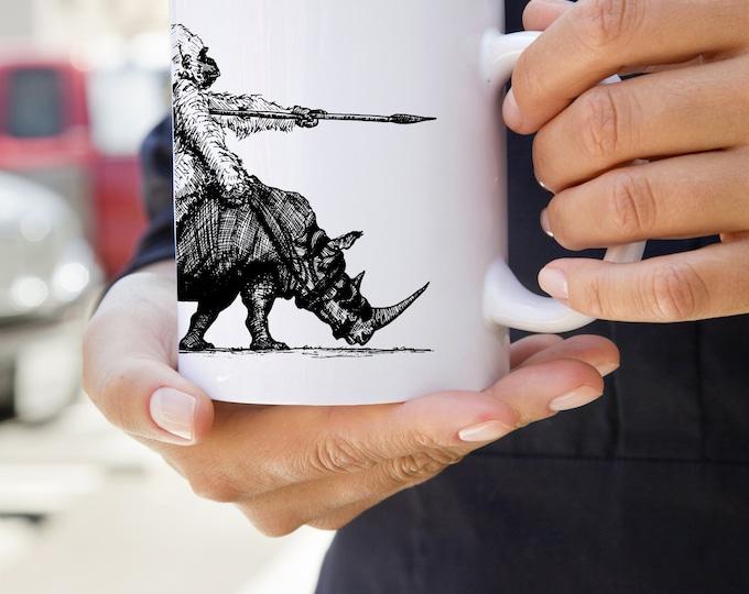 KillerBeeMoto: U.S. Made Coffee Mug With Gorilla Riding A War Rhino