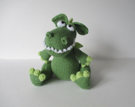 Griff The Dragon Toy Knitting Pattern From Fluffandfuzz On Etsy Studio