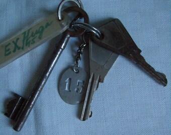 Key House 15, French Antique x 3 door original key