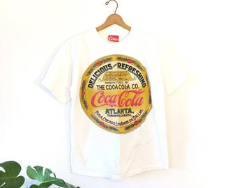 Vintage Coca Cola tee/90s Coke T shirt