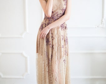 Bohemian bridesmaid dress, Boho wedding dress, Boho bridesmaid dress, Bohemian wedding dress, Evening dress, Embroidered, 0015 // 2015