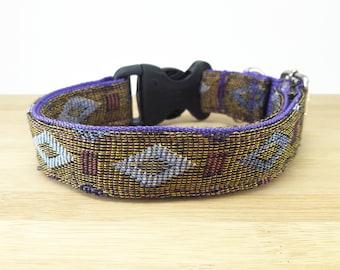 Diamond Purple Tribal Boho Bohemian Aztec Navajo Dog Collar, Dog Collars, Dog Collars for girls, Dog Collars for boys, summer spring winter