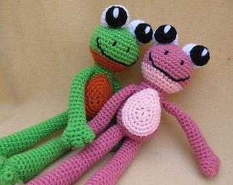 Courting Frogs Crochet Amigurumi Frog Pattern