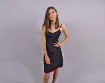 Satin Slip Dress / Vintage 90s Slip Dress / Minimalist Dress / Empire Waist Dress Δ size: sm / md