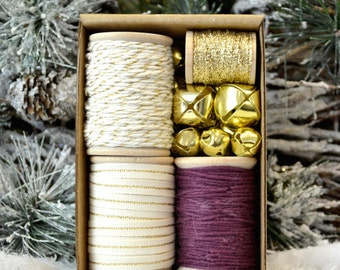 Ivory, Gold and Wine Gift Wrap Kit (GWK13)