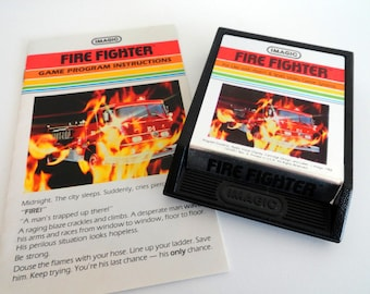 Vintage Fire Fighter Video Game by Imagic for the Atari 2600 with Box and Manual