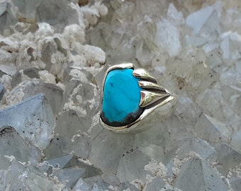 No.4 Fox Mountain  Turquois Ring. SIze 7-1/2