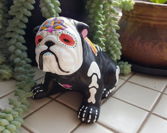 Sugar Skull English Bulldog, Day Of The Dead Bulldog Angel, Bulldog  Memorial, Bully