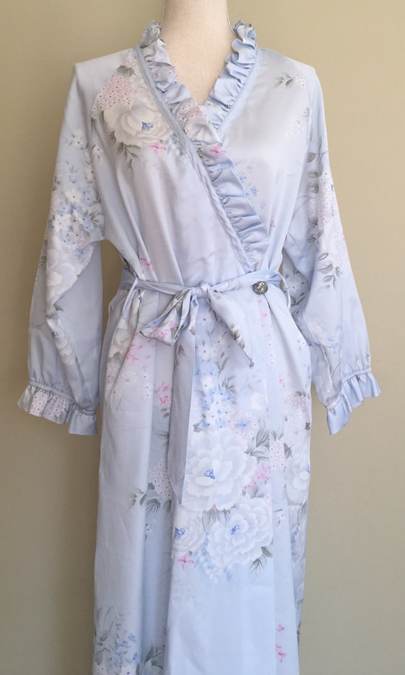 Christian Dior Robe Nightgown Dressing Gown Floor Length
