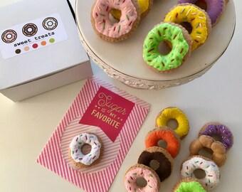 Felt Food | Felt Donuts | Play Food | Pretend Play | Donut | Felt | Play Kitchen | Montessori | Waldorf Toy | Donut Wall | Donut Ornament