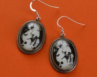 ALICE IN WONDERLAND Earrings - Down the Rabbit Hole - Silhouette Jewelry