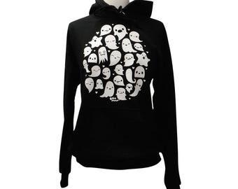 GHOST Hoodie - Kawaii Ghosts Unisex Sweatshirt - (Sizes S, M, L, XL)