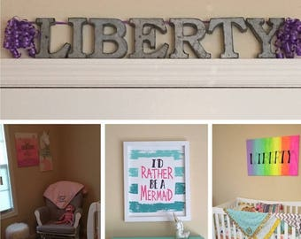 Custom wall Letters, new childs room, weedings, store logos