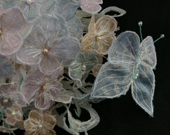Fairytale beaded bouquet. Wedding bouquet. Alternative wedding flowers. Keepsake bouquet. Bridesmaid flowers. Bridal flowers