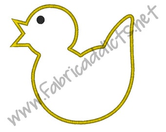 Chick Applique fits 12x7 Hoop for Embroidery Machine - Automatic Download Multiple Formats