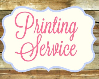 WEDDING Invitation PRINTING SERVICE Add-On for any design in my shop
