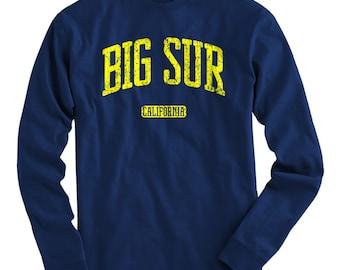LS Big Sur California Tee - Long Sleeve T-shirt - Men and Kids - S M L XL 2x 3x 4x - Big Sur Shirt, Cali - 4 Colors