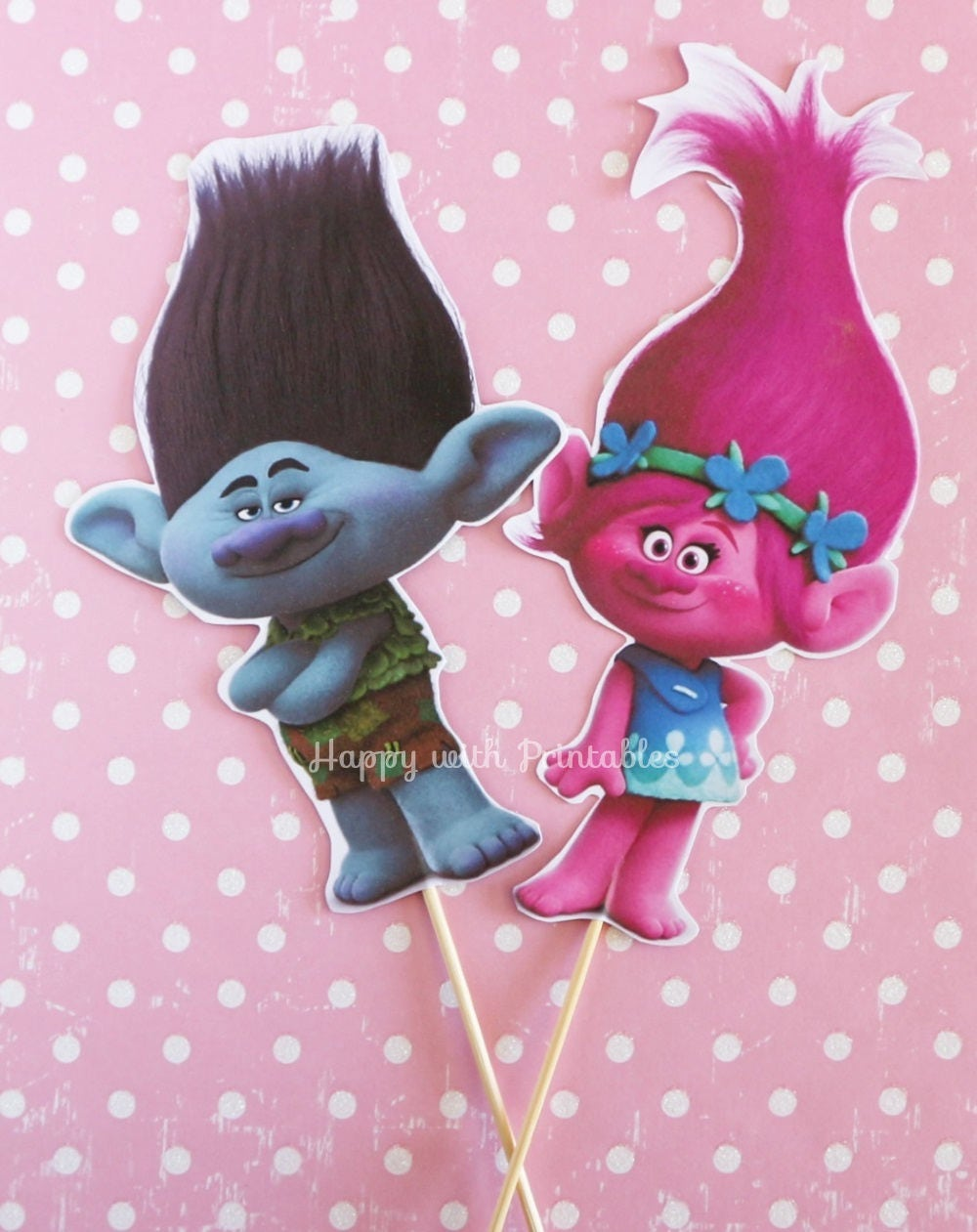 Trolls Centerpieces Poppy And Branch 6 5 Inch