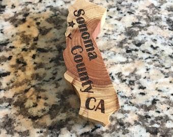 Sonoma County California Redwood Magnet