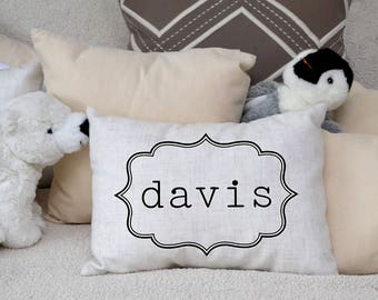 Personalized Children's pillow, newborn name, kids gift, baby boys & girls pillow,