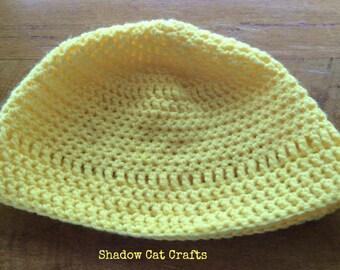 Zero Waste Sunshine Cheery Crochet Beenie