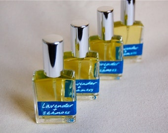 LAVENDER & SEAMOSS - an all-natural botanical perfume: lavender, oakmoss, bergamot, with cool oceanic intrigue  (glass atomizer)