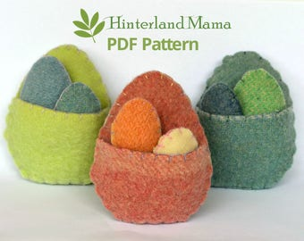 PDF Easter egg pouch : template and instructions - Easter Toy, Easter Softie, DIY Easter Craft. Easter gift bag. Easter gifts.