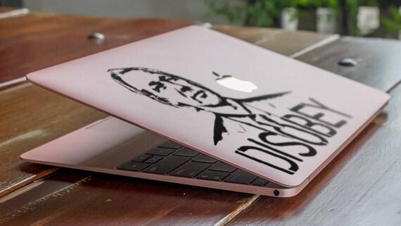 Disobey Decal Sticker, Apple sticker macbook vinyl macbook, Iconic Julian Assange Tribute, Hacktivism, mac, Macbook Decal Sticker