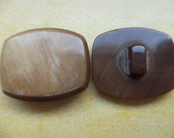 10 buttons Brown 22mm (6424) button