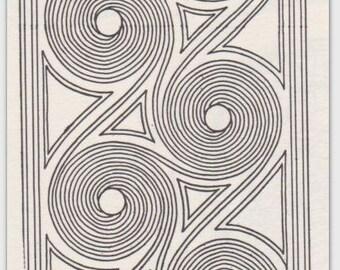 Pottery Design Card Swirl Border Tsalagi Cherokee Designed