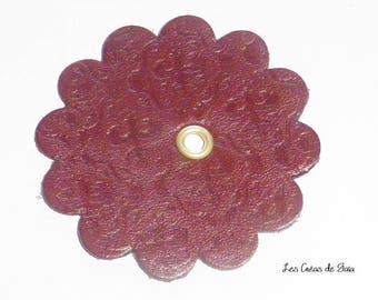 1 x flower textured vintage leather cutting