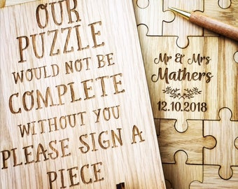 Puzzle Guestbook, Jigsaw Guestbook, Unique Guestbook, Jigsaw puzzle guestbook, Wedding Guestbook, Guest books, wedding guestbooks