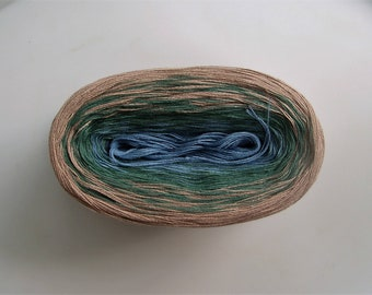 AGAVE II --mega--  Color Changing Cotton yarn  --  Fingering Weight -- 180 gr/865 yards