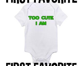 Trop mignon bébé grenouillère Body chemise douche cadeau geek ringard Sci Fi mignon drôle nourrisson nouveau-né - 24 M grossesse faire-part naissance révèlent