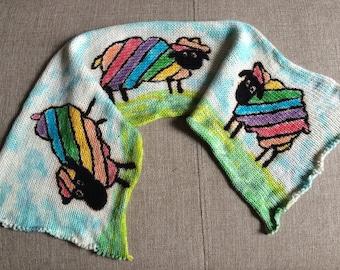 Handgefärbtes Garn, Indie Garn gefärbt, handgefärbten Garn RAINBOW Schaf gefärbt, um Bestellung--handbemalte Sock Blank Merino / Nylon Doppel gestrandet