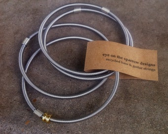 Recycled Bass Strings - Restored Bass Strings Bangles