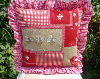 Pillow cover in patchwork style