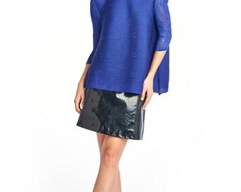 Azalea 3/4 Sleeve Blouse Blue
