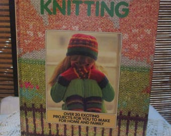 Vintage Knitting Pattern Book Over 20 exciting Projects (1986)