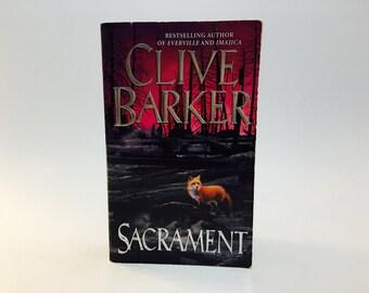 Vintage Fantasy Book Sacrament by Clive Barker 1997 First Edition Paperback