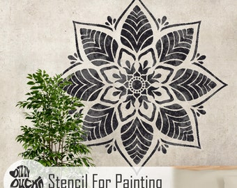 KERALA STENCIL - Indian Mandala Wall Furniture Floor Craft Stencil for Painting - KERA01