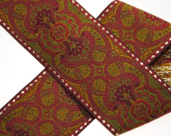 "Ornate Geometric Jacquard Trim 2"" wide - One, Two, Five, or Ten Yards"