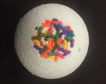BATH BOMB SET of 2 ~ cake scented w/ sprinkles