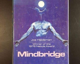 Mindbridge, Joe Haldeman, Book Club Ed. with D/J, 1976, Classic Sci-fi