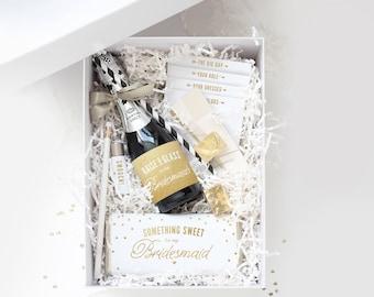 Be My Bridesmaid Box ~ Printable Collection // Gold // Ask Bridesmaids, Maid of Honor Gift, Bridesmaid Proposal, Bridesmaid Box, BM Gift