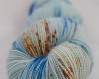 Hand-dyed yarn - sock yarn - superwash - merino - dyed-to-order - speckles - GLACIALE