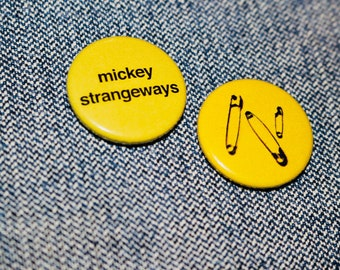 Mickey Strangeways Handmade Button Badge - Manchester - Designer
